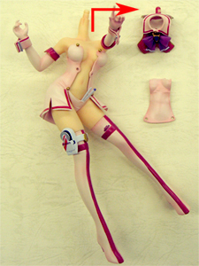 How To? Megami Magazine Creators School Swimsuit Mecha Nurse Girl Nana 1/8 PVC figure by Orchidseed