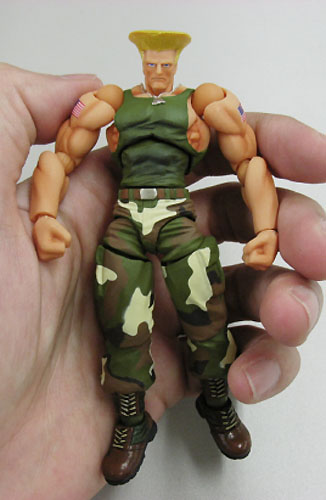 Street Fighter Online Revoltech SFO Guile action figure by Kaiyodo