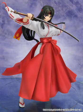 Queens Blade the Musha Miko Tomoe non scale PVC figure by R line Griffon Enterprises