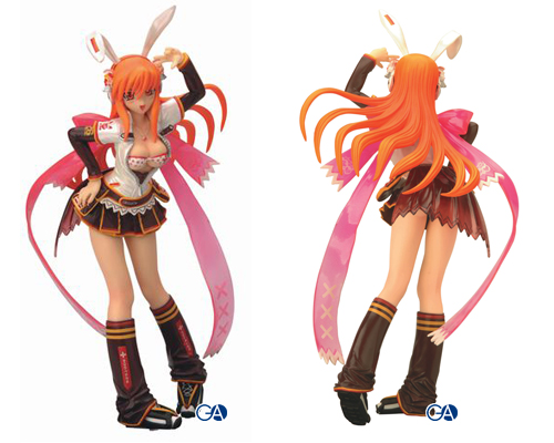 Beatmania IIDX Umegiri Iroha chocolate & Hinazuki Lilina strawberry 1/8 PVC figure set by Konami