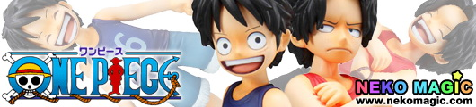 One Piece Monky D Luffy & Portgas D Ace Brotherly Bonds 1/8 PVC figure by Megahouse