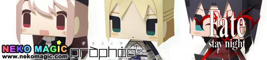 Fate/stay night – Fate/stay night 3 kinds Set Exclusive Graphig 027 029 paper craft by Cospa