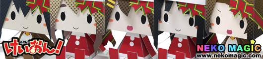 K ON! – K ON!! Xmas remix Lawson Exclusive Graphig 044 048 paper craft by Cospa