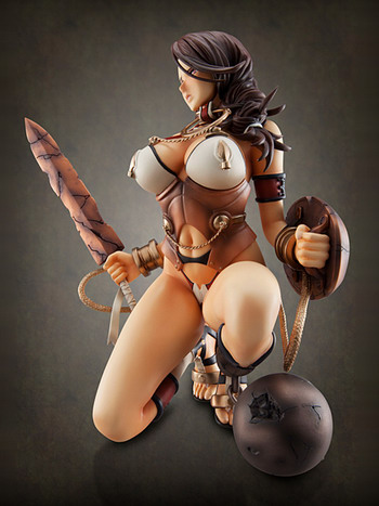 Queen's Blade Rebellion – Imprisoned Dragon Warrior Branwen 1/8 PVC figure by Megahouse