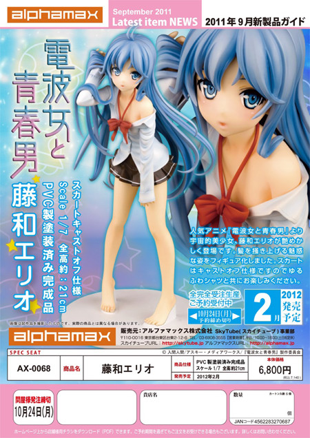 Denpa Onna to Seishun Otoko – Towa Erio 1/7 PVC figure by Alphamax