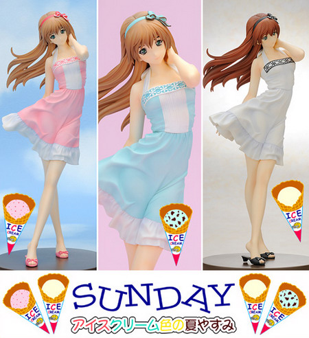Yasumi chan Series   Yasumi chan Sunday  Ice Cream Colored Summer Holidays  Vanilla 1/6 GK by Kurushima