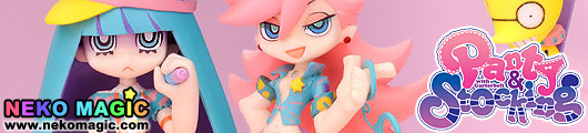 Panty & Stocking with Garterbelt – Twin Pack+ Panty & Stocking with Chuck + galaxxxy non scale PVC figure set by Phat! company