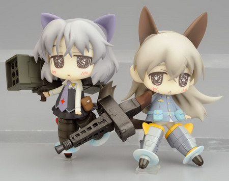 Strike Witches   Eila & Sanya PVC figure set by Chara ani