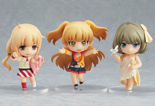 IDOLM@STER Cinderella Girls Anzu, Kaede and Rika + Live Stage Set Nendoroid Petit PVC figures by Good Smile Company