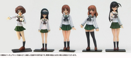 Girls und Panzer   Anglerfish Team Figure Set 1/35 GK by Platz