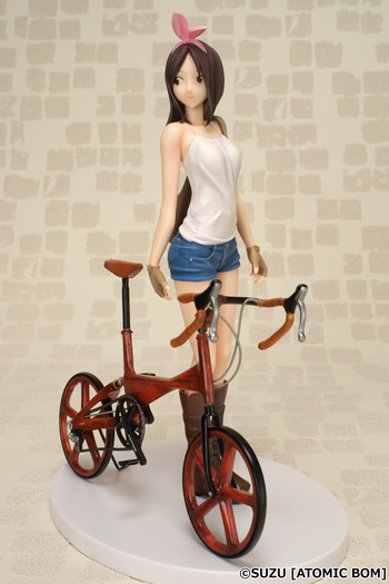 Atomic Bom's Original character – Bicycle and Girl 1/7 PVC figure by Kaitendoh