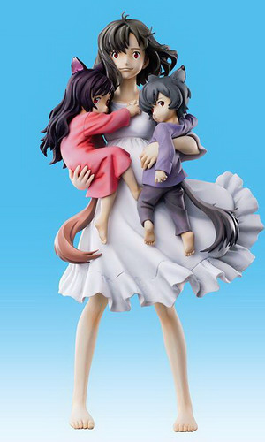 Wolf Children   Hana and Ame and Yuki non scale PVC figure by Medicos Entertainment