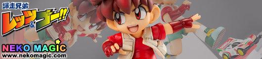 Bakuso Kyodai Lets & Go!!   Seiba Retsu & Sonic Saber non scale PVC figure by Megahouse