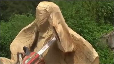 How to: Carve Out Life Size Anime Characters with Chainsaw